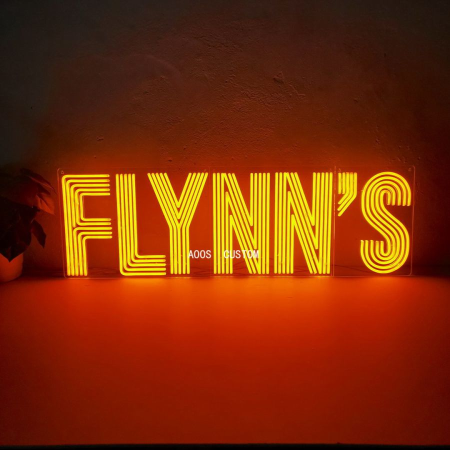 Flynn's Arcade Game Room LED Neon Sign (Custom Options: Color, Size, Dimmable, Plug-in/Battery Operated, Wall Mounted, Self Standing, Hanging from Window/Ceiling, Indoor/Outdoor Use)