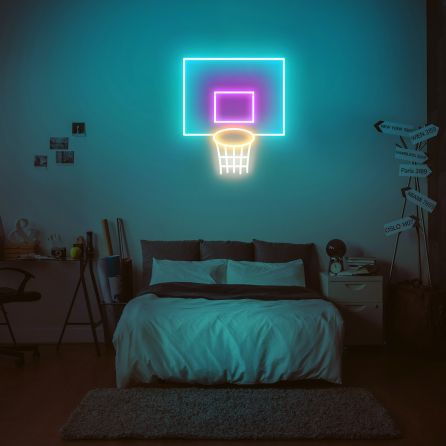 Basketball Basket Neon Sign