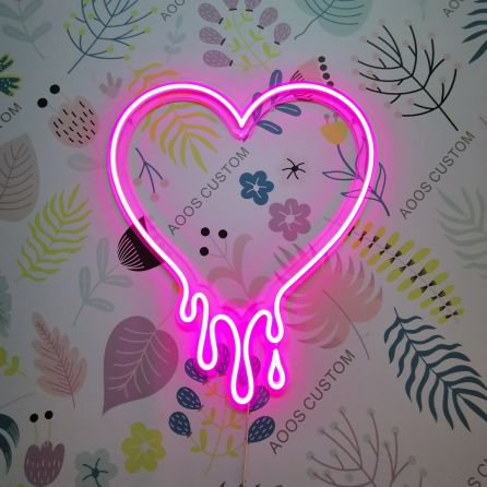 Make My Heart Melt Custom LED Neon Signs for Wall Decor (Customization Options: Color, Size, Dimming, Wall Mounted, Desktop Type, Hanging in a Window/Ceiling, Indoor/Outdoor Use, Electrical/Battery Powered)