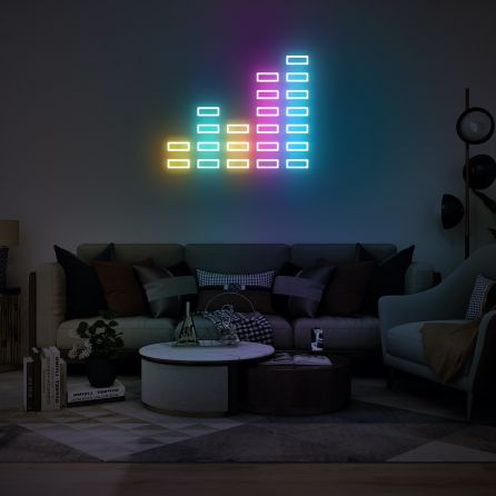 Music Volume Neon Sign