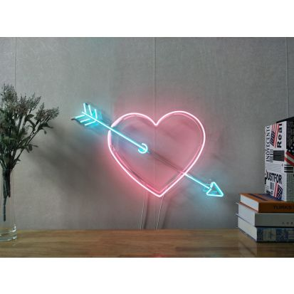New Pink Lips Kiss Love Neon Sign For Bedroom Wall Home Decor Art With Dimmer