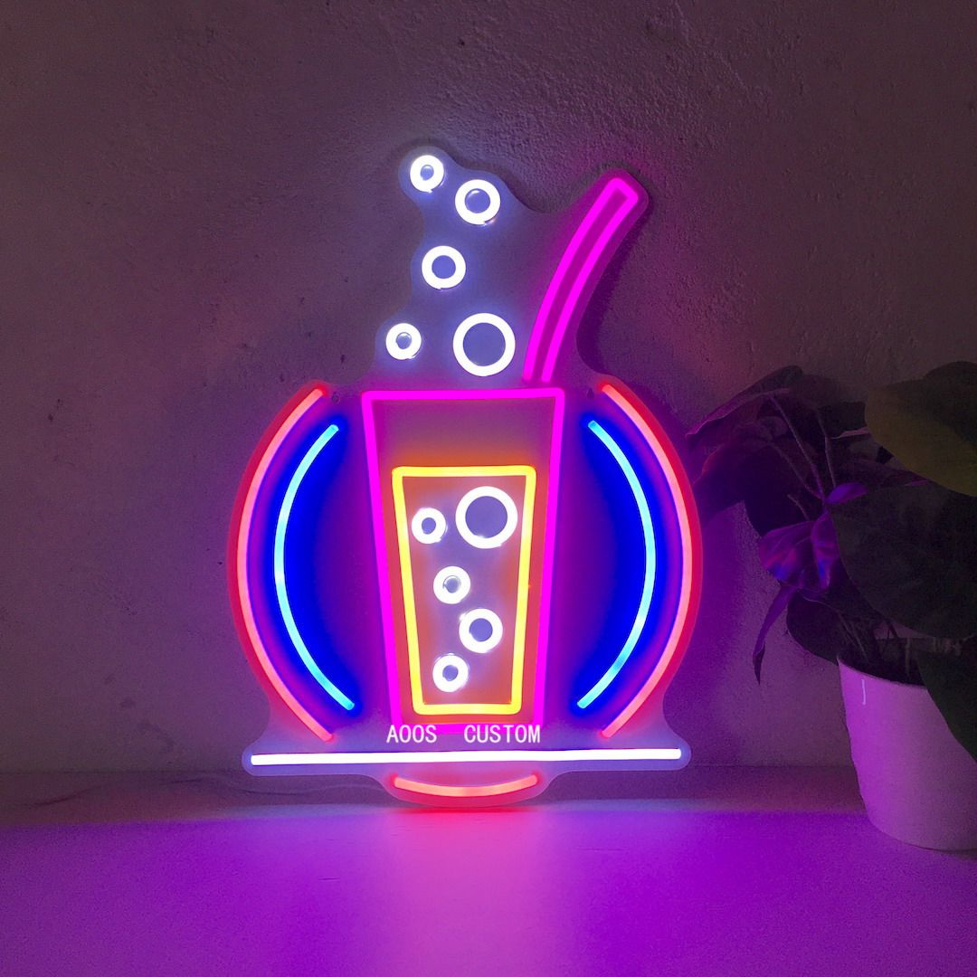 Cocktail Bar Drinking LED Neon Sign