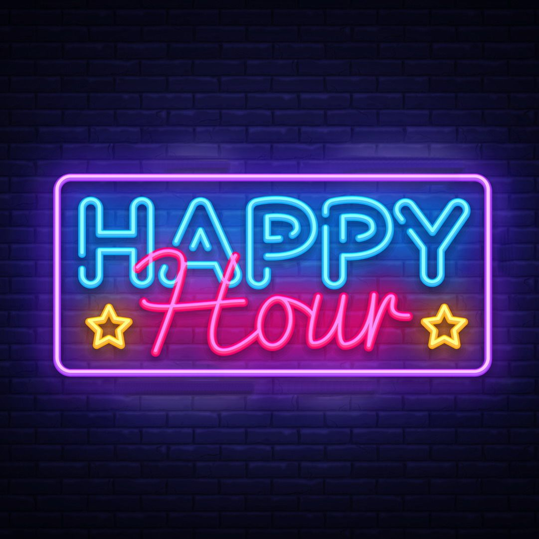 Happy Hour LED Neon Sign