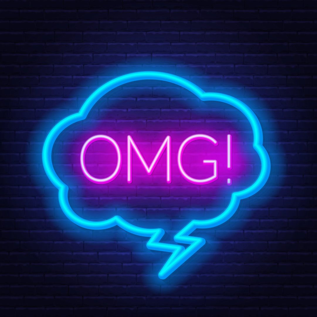 Omg Phrase Led Neon Sign